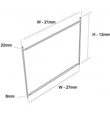 Dělicí příčka HI280 500x300 mm Vz
