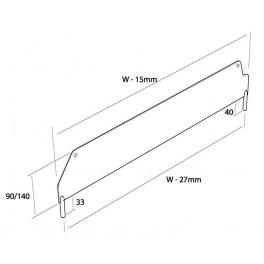Příčný dělič HI280 400x90 mm RAL9002